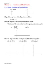 Lecture Notes on Functions and Their Graphs