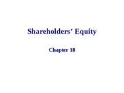 18 Ch. 18 - Shareholders' Equity