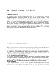 RECIPROCATING ENGINES