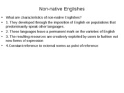 6. non-native Englishes[1]