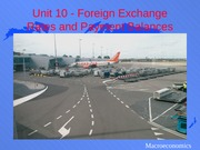 Unit10 Foreign Exchange Rates and Payment Balances