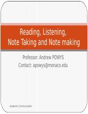 2 COMM 1003 Reading, Listening and Note taking, Research_AP.pptx.pptx
