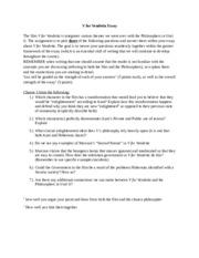 V for vendetta essay help