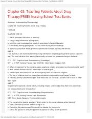 Chapter 03_ Teaching Patients About Drug Therapy(FREE) Nursing School Test Banks.pdf