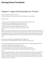 Chapter 6: Legal and Ethical Basis for Practice | Nursing School Test Banks.pdf