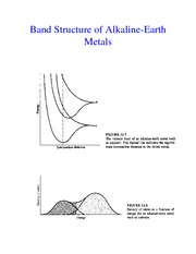 Band Structure of Alkaline Earth Metals