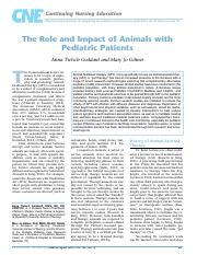 Role and Impact of Animals with Patients .pdf