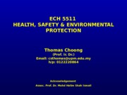 ECH 5511 - Toxicology In The Workplace [29-03-2015]