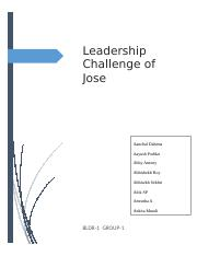 BLDR_Group1_Leadership Challenge of Jose