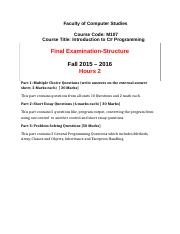M107- Fall 2015- Final Exam Structure-2.docx