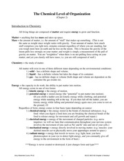 Anatomy and Physiology Notes Chapter 2 Handout