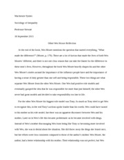 Other Wes Moore Final Paper  Running Head Wes Moore  The Other Wes   Pages Other Wes Moore Reflection Process Essay Thesis also Computer Science Essay  Essay Paper Topics