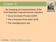 Chapter 2 GDP, CPI, Unempt 1