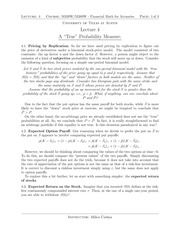 Lecture 4 on True Binomial Probabilities