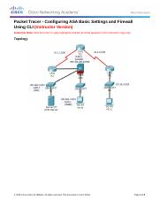 9.3.1.1 Packet Tracer - Configuring ASA Basic Settings and Firewall Using CLI_Instructor.docx