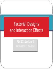 08 Factorial Designs and Interaction Effects