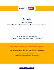 Valid Oracle 1z0-064 Exam - Pass With Guarantee.pdf