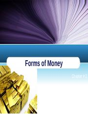 Forms of Money