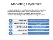 Marketing Objectives powerpoint