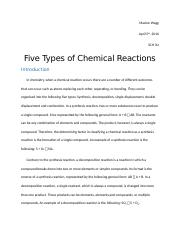 April 05 - Lab Report - Five Types of Chemical Reactions.docx