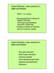 greenchemistry handout