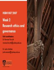 HSBH1007-2007 Week Two Research Ethics and Governance 2018.pdf
