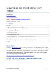Downloading stock data from Yahoo