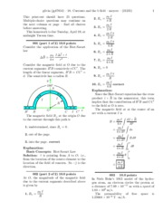 18. Currents and the b field-solutions