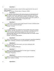 Research Methods CCJ  4700 Section 1171 Chapter 10 Quiz.docx