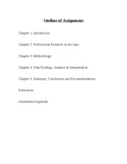 Outline Of Assignment