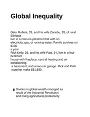 Global Inequality class notes