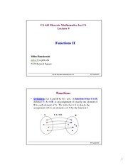 Lecture Notes on Functions II