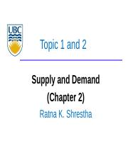 2 - Supply and Demand