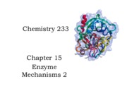 16 233 Chapter 15.2 Enzyme mechanisms 2