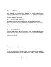 ESTUDIO FINANCIERO gestion