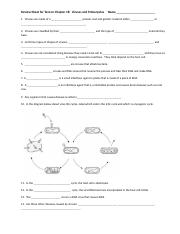 Review Sheet for Test on Chapter 18