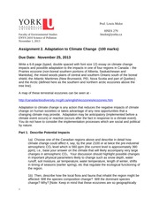 2410 Assignment 2 - Climate Impact 2013