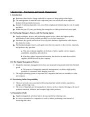 MAR 5465 - Ch. 1 Outline