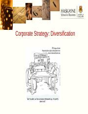 Lecture 6 - Corporate Strategy - Product Diversification