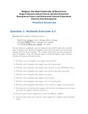 Practice Excercise - Relational Algebra and Calculus