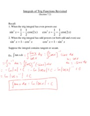 L14 - Intregrals of Trigonometric Functions _revisited_