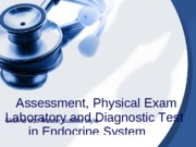Physical Assessment, Laboratory and Diagnostic Test