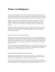 Primer on Indulgences.docx