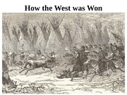 Week 5, How the West was Won lecture