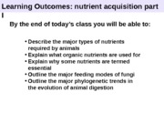 Lecture 4 - Animal Nutrients I
