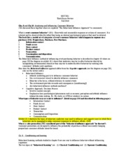 A MKT 351 Study Guide 3 - Fall 2010