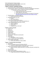 PSYC 4310 Study Guide Outline Exam 2