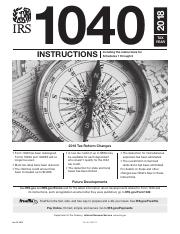 I1040gipdf Instructions 2018 1040 Tax Year Including The