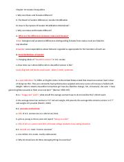 Chapter 10 gender inequalities lecture note outlines
