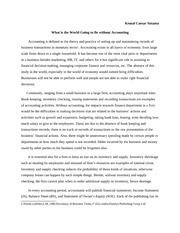 "a world without accounting essay An essay on conceptualization of issues in empirical accounting research  the  ""real world"" for which we seek betterment as researchers is typically very  complex  projects in a credible manner without incurring significant proprietary  costs."